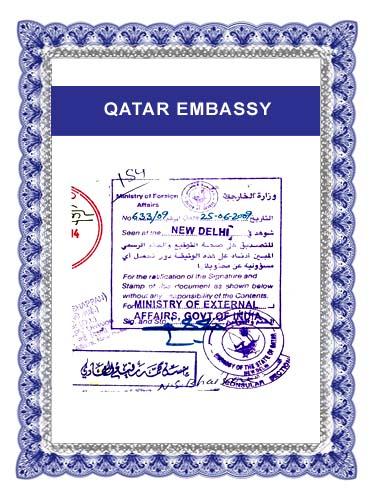 Embassy certificate attestation for kuwait qatar uae saudi arabia qatar embassy stopboris Choice Image